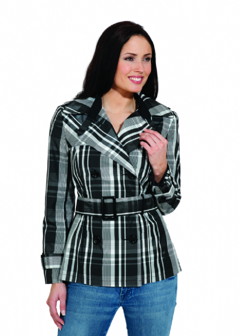 Womens Lightweight Check Rain Jacket db3070